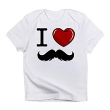 I Love Mustache Infant T-Shirt