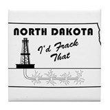 Frack the Bakken Tile Coaster