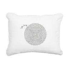 pi 3.14 art Rectangular Canvas Pillow