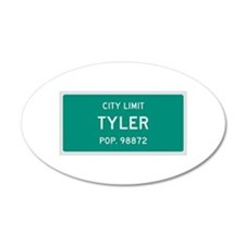 Tyler, Texas City Limits Wall Decal