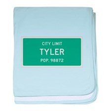 Tyler, Texas City Limits baby blanket