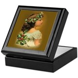 Holly Girl Keepsake Box