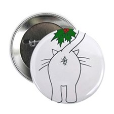 "Season's Greetings From Our Cat 2.25"" Button"