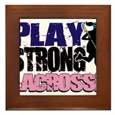 Girl's Lacrosse Framed Tile