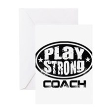 PSLogo_Tee_Coach Greeting Card