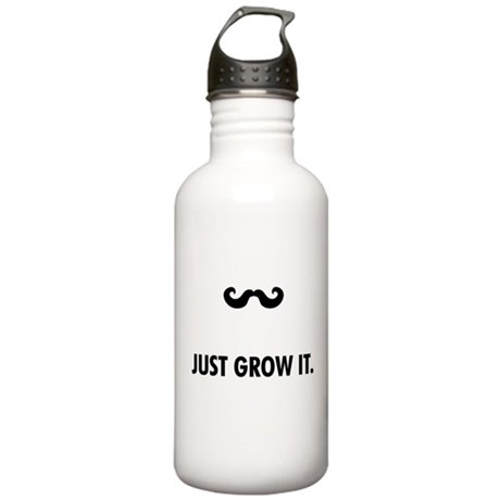 Grow A Mustache Stainless Water Bottle 1.0L