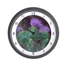 Thistle Trio Wall Clock