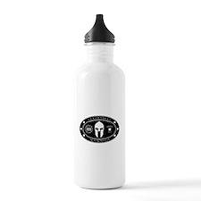 Armed Thinker - III B&W Water Bottle