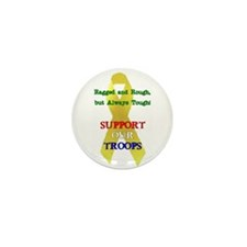 Cute American pride. support our troops ribbon Mini Button (10 pack)