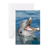 Smiling dolphin Greeting Cards (Pk of 10)