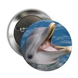 "Smiling dolphin 2.25"" Button (10 pack)"