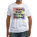 Art For Art's Sake Fitted T-Shirt