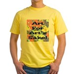 Art For Art's Sake Yellow T-Shirt