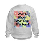 Art For Art's Sake Kids Sweatshirt