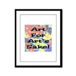 Art For Art's Sake Framed Panel Print
