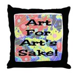 Art For Art's Sake Throw Pillow