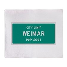 Weimar, Texas City Limits Throw Blanket