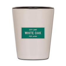 White Oak, Texas City Limits Shot Glass