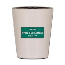 White Settlement, Texas City Limits Shot Glass
