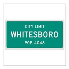 Whitesboro, Texas City Limits Square Car Magnet 3""
