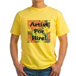 Artist for Hire! First Editio Yellow T-Shirt