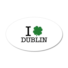 I Shamrock Dublin 38.5 x 24.5 Oval Wall Peel