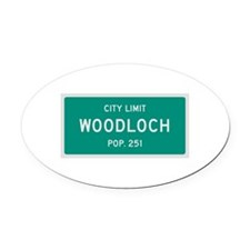 Woodloch, Texas City Limits Oval Car Magnet