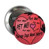 "Therapy Dogs! 2.25"" Button (10 pack)"