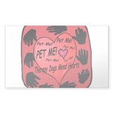 Therapy Dogs! Rectangle Decal