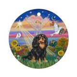 Autumn Angel-Cav-BT-R Ornament (Round)