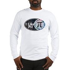 I Like Pi Oval Long Sleeve T-Shirt