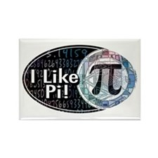 I Like Pi Oval Rectangle Magnet (10 pack)