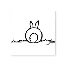 Cotton Tail Rectangle Sticker