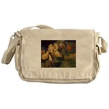 Yellow Iris Flower Messenger Bag