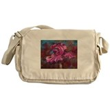 Purple Iris Flower Messenger Bag