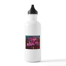 Purple Iris Flower Water Bottle