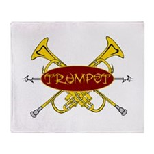 Trumpet Tribal Throw Blanket