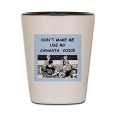 canasta Shot Glass