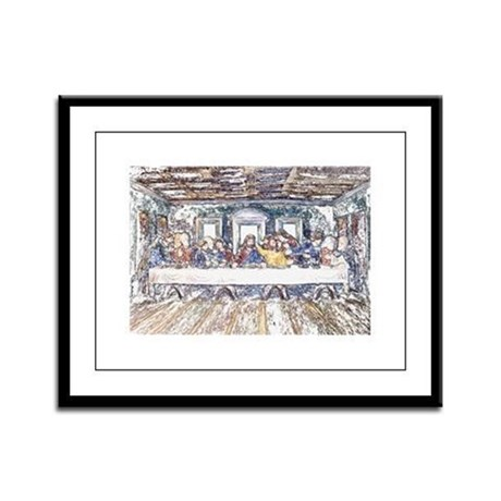 Last Supper Framed Panel Print