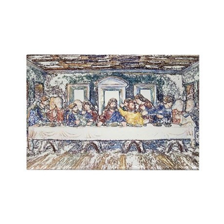 Last Supper Rectangle Magnet (100 pack)