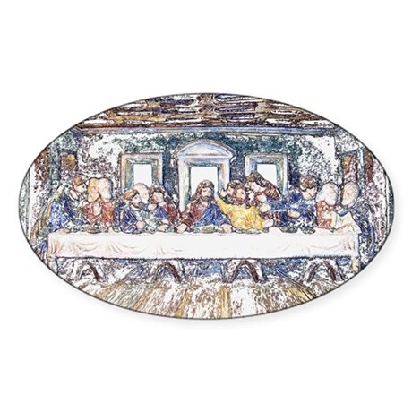 Last Supper Oval Sticker