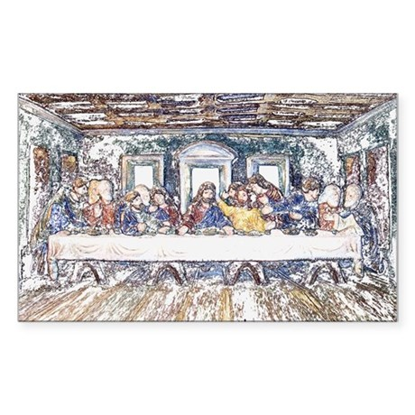 Last Supper Rectangle Sticker