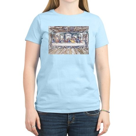 Last Supper Women's Pink T-Shirt
