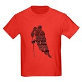Language of Hockey (skater) T-Shirt