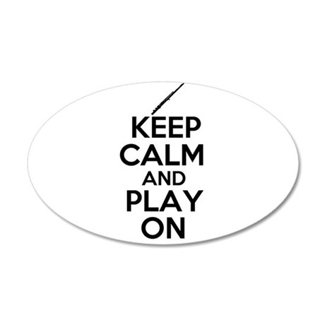 Keep Calm and Play On Flute Wall Decal