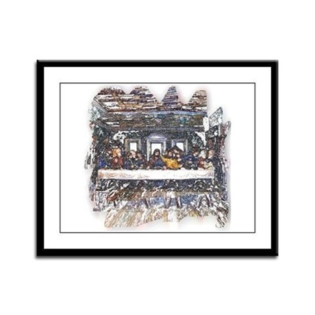 Lord's Last Supper Framed Panel Print