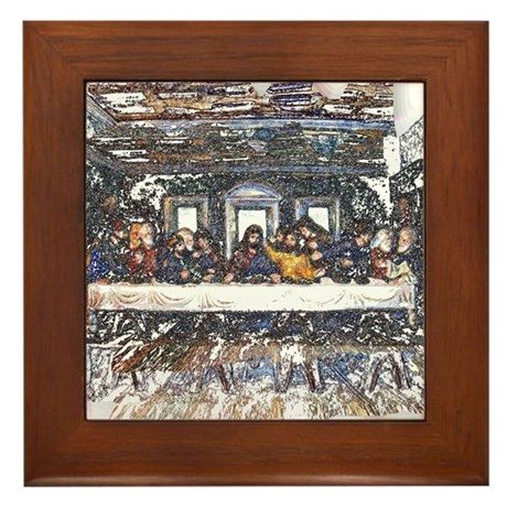 Lord's Last Supper Framed Tile