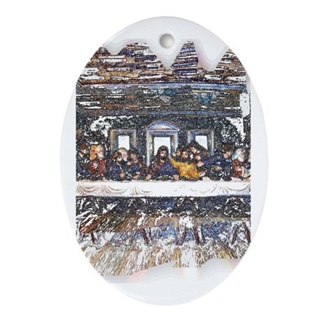 Lord's Last Supper Oval Ornament