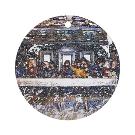 Lord's Last Supper Ornament (Round)