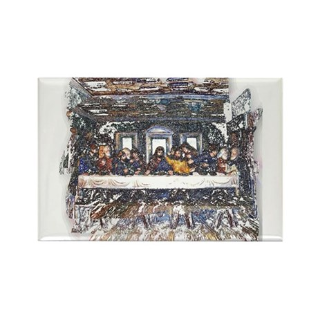 Lord's Last Supper Rectangle Magnet